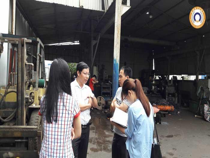 Chuyên gia KNA CERT khảo sát thực trạng nhà máy