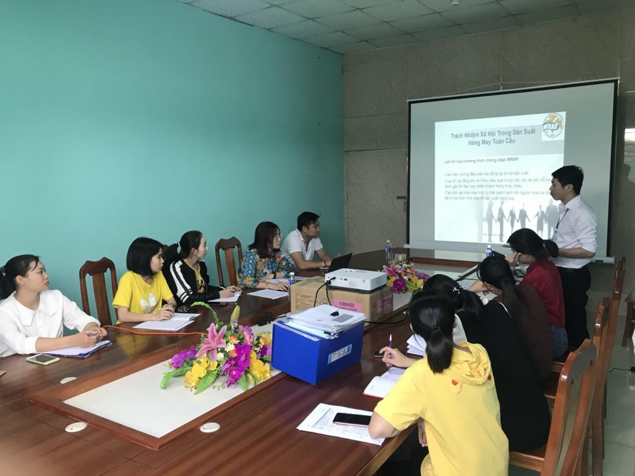 Đào tạo ISO 9001 và WRAP cho Công ty TNHH Thương mại May Thăng Long