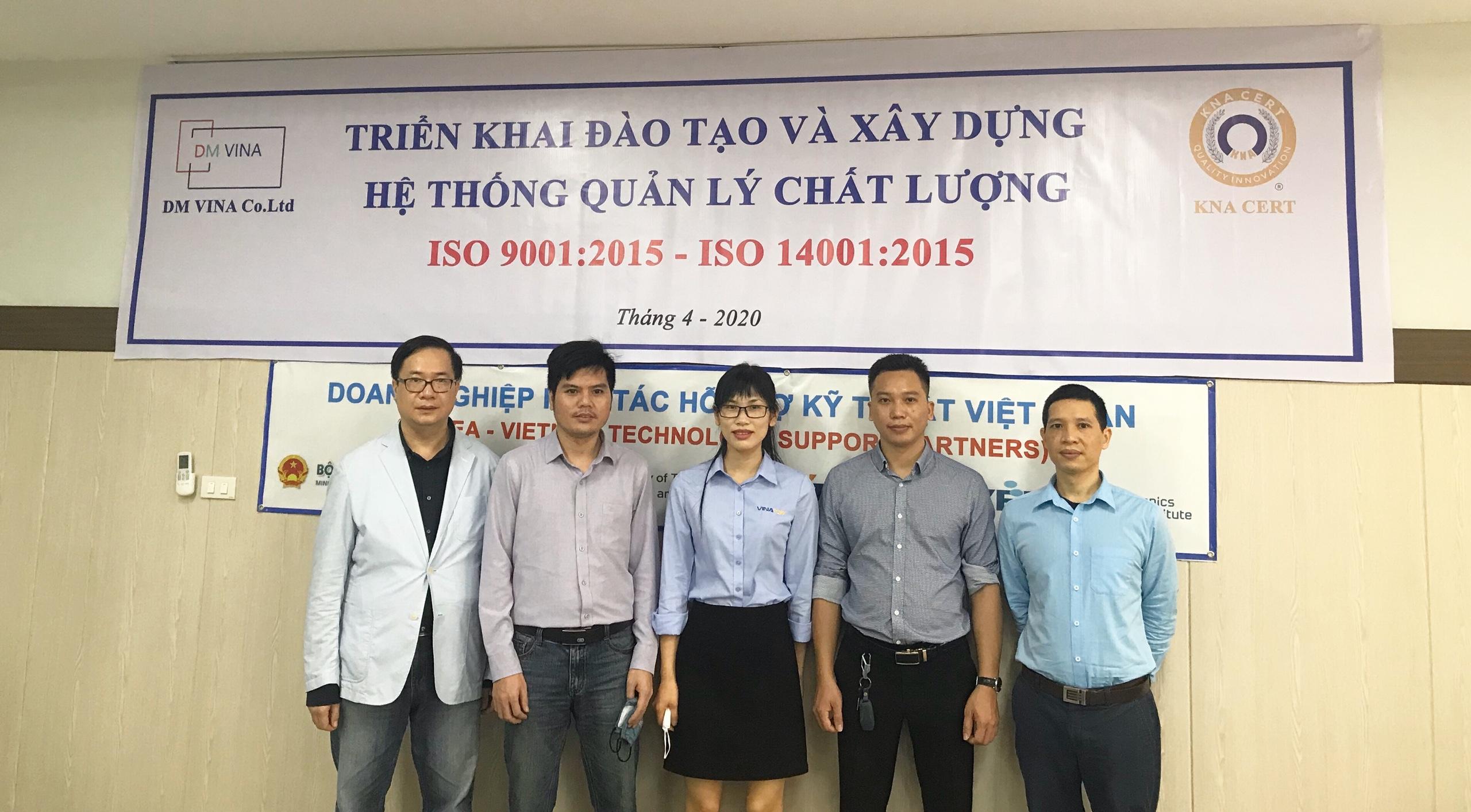Đào Tạo Tích Hợp ISO 9001 và ISO 14001 cho Công ty TNHH  DM VINA