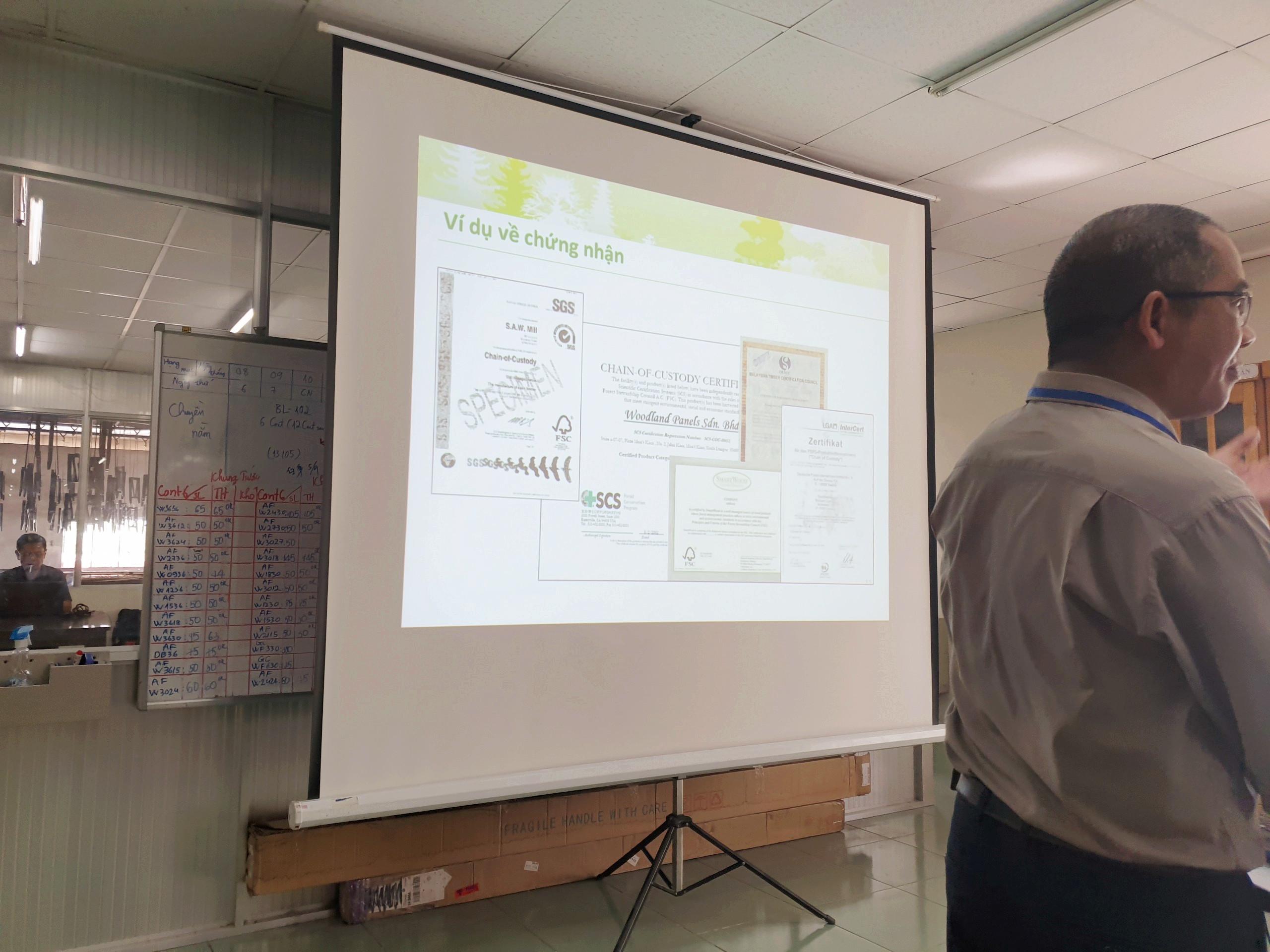Đào tạo nhận thức FSC/CoC cho Công Ty TNHH Kim Phong